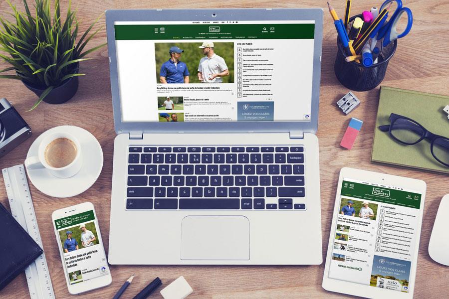REZO 21 agence de création de sites Internet au Pays Basque avec WordPress développe la nouvelle version de Golf Planète
