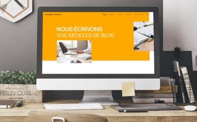 Le site Internet de l'agence de création de contenu le basque et la plume est en ligne