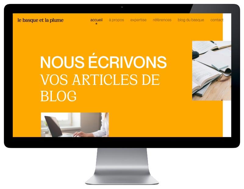 L'agence web REZO 21 développe avec WordPress le site Internet responsive design pour le basque et la plume agence de création de contenu