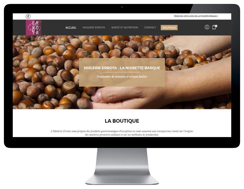 REZO 21, agence digitale au pays basque développe la nouvelle boutique en ligne huilerie errota sous WordPress WooCommerce