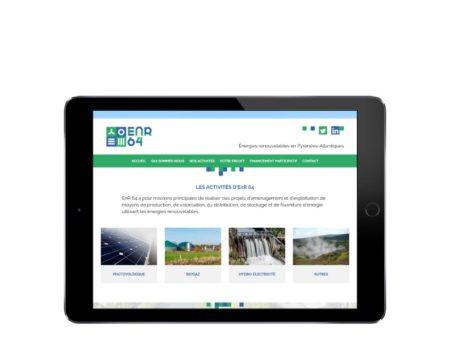 REZO 21 agence au pays basque développe le site internet responsive design de la SEM ENR64 avec wordpress responsive design