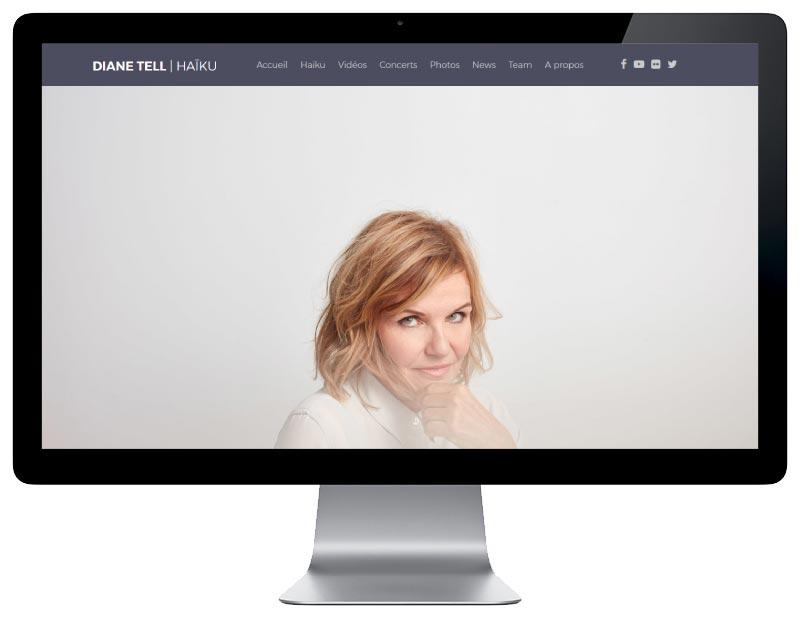 l'agence web pays basque REZO 21 développe le nouveau site Internet de HAIKU le nouvel album de Diane Tell