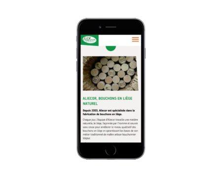 REZO 21 agence web de création de sites Internet au Pays basque réalise la refonte du site Internet d'Aliecor responsive mobile avec WordPress