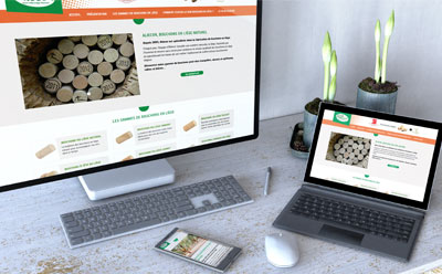Aliecor, maître artisan bouchonnier liégeur lance son nouveau site Internet avec l'agence web REZO 21