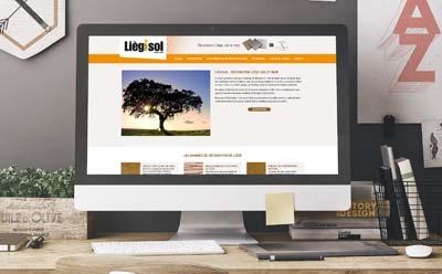 Un nouveau site responsive mobile pour Liègisol, produits de décoration à base de liège