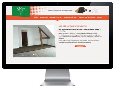 REZO 21 agence web développe le nouveau site Internet WordPress de SNIC Liège isolation naturelle responsive desktop