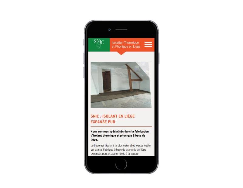 REZO 21 agence web développe le nouveau site Internet WordPress de SNIC Liège isolation naturelle responsive mobile