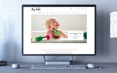 Hey babe, la boutique d'accessoires de puériculture et décoration pour enfants lance son ecommerce avec l'agence digitale REZO 21