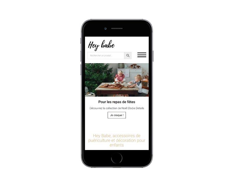 REZO 21 agence web de création de sites internet au pays basque a Anglet développe le nouveauecommerce HEY BABE