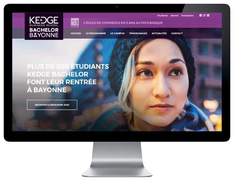 REZO 21 agence web de création de sites Internet au pays basque développe le nouveau site Internet de Kedge Bachelor Bayonne, école de commerce au pays basque