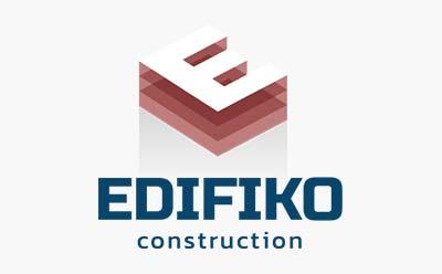 La société de construction EDIFIKO choisit le studio graphique REZO 21 pour la conception de son logo