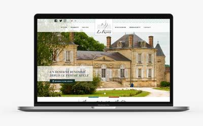REZO 21, agence de création de sites internet au pays basque livre le site du Château La France, propriété viticole dans le Bordelais