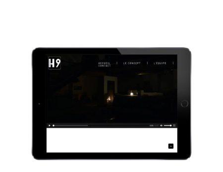 REZO 21, agence web de création de sites Internet avec WordPress au Pays basque lance le nouveau site Internet de H9Design, showroom privé à Anglet