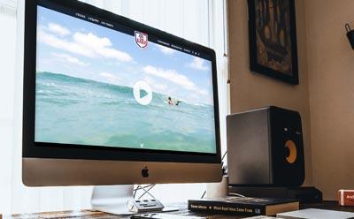 Philippe Bourgeois sélectionne REZO 21 pour la refonte du site Internet de son école de Surf ES64