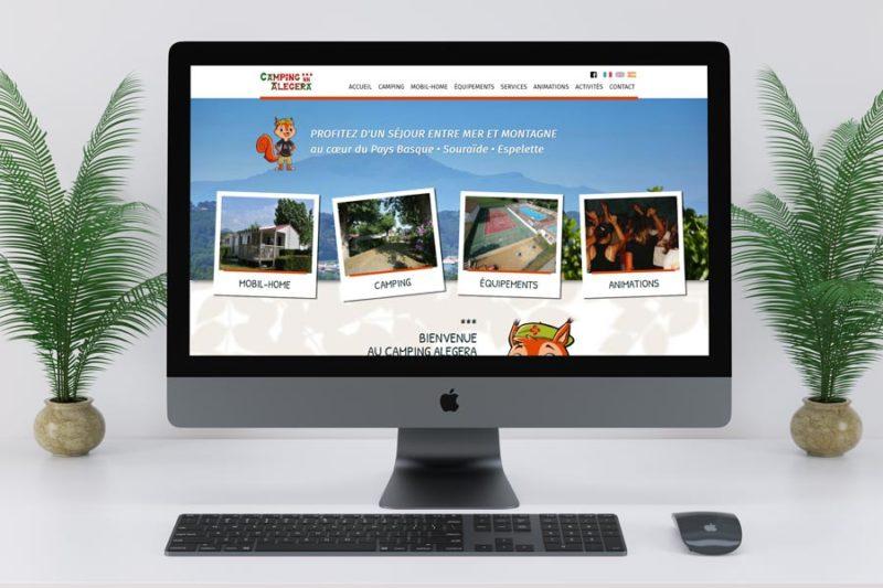 L'agence de création de sites Internet REZO 21 réalise le nouveau site Internet du camping Alegera à Espelette
