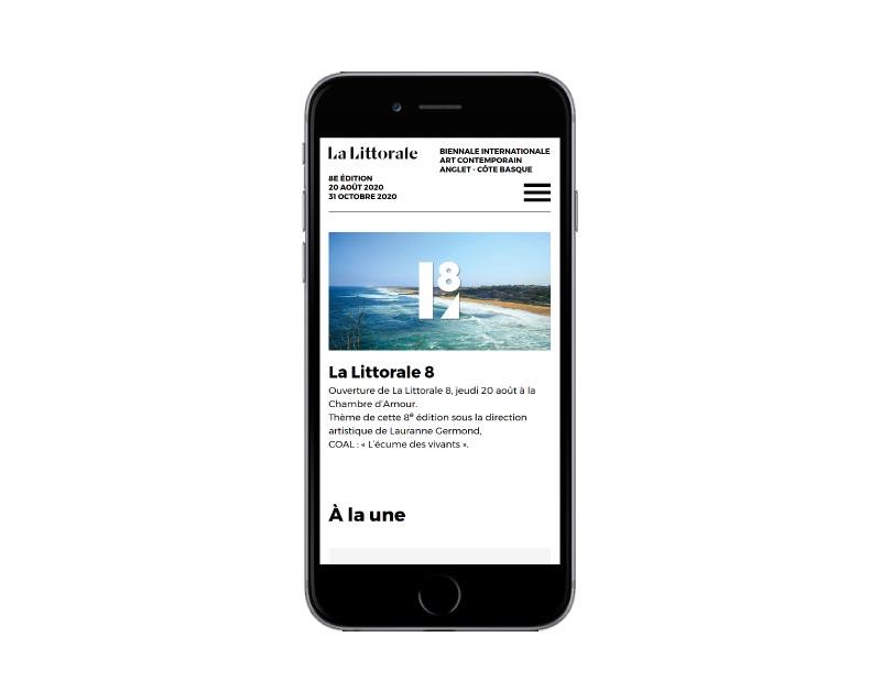 REZO 21 agence web de création de sites Internet sur mesure développe le nouveau site Internet de la Littorale #8, édition 2020 de la biennale d'art contemporain de la ville d'Anglet