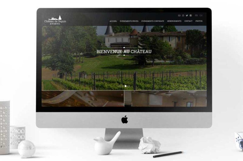 La branche événementielle du Château de Seguin réalise la refonte de son site Internet avec REZO 21