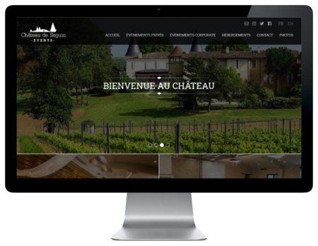REZO 21 développe le nouveau site Internet de Château de Seguin Events - responsive desktop