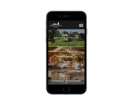 REZO 21 développe le nouveau site Internet de Château de Seguin Events - responsive mobile