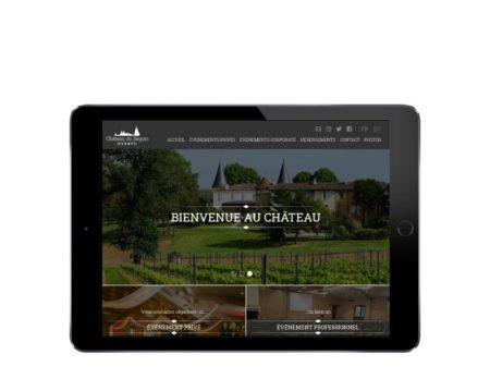 REZO 21 développe le nouveau site Internet de Château de Seguin Events - responsive tablette