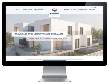L'agence web REZO 21 développe avec wordpress le nouveau site internet de la société de construction Edifiko