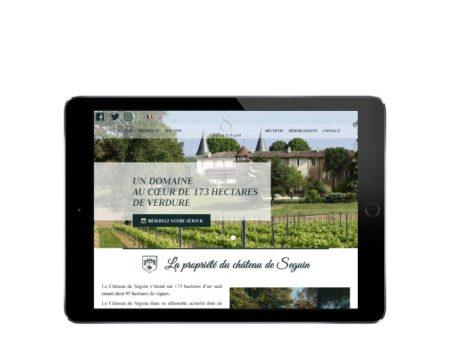 REZO 21 agence web au pays basque développe le nouveau site web wordpress du Château de Seguin propriété viticole dans le bordelais