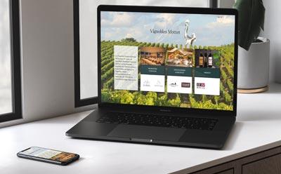 Les Vignobles Mottet se dotent d'un nouveau site Internet responsive mobile avec l'agence REZO 21