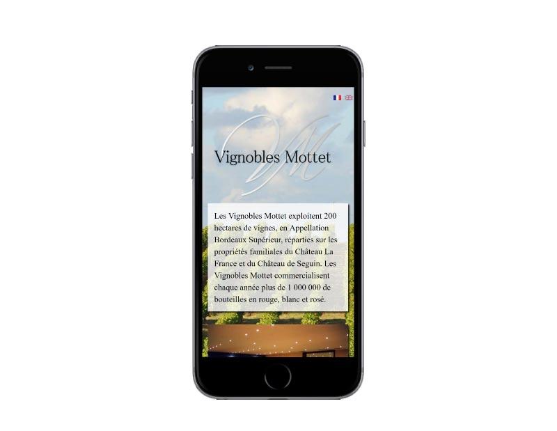 REZO 21 développe le site Internet des Vignobles Mottet, producteur de vin à Bordeaux
