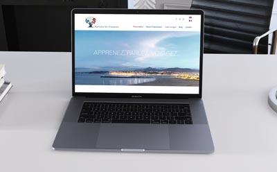 Nouvelle création de site web de l'agence REZO 21 pour Parlons en Français, séjours linguistiques et cours de français en ligne