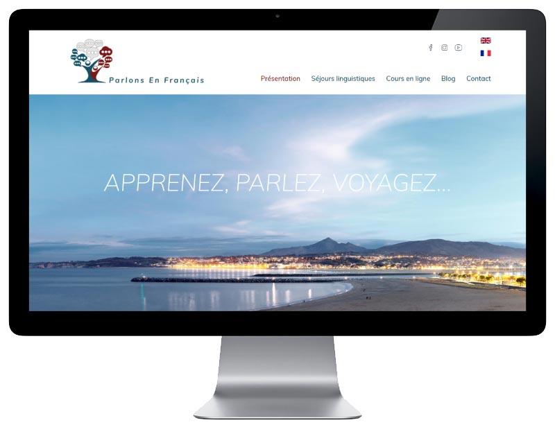 REZO 21 agence web de création de sites Internet à Bayonne au Pays Basque développe le nouveau site WordPress Parlons en Français
