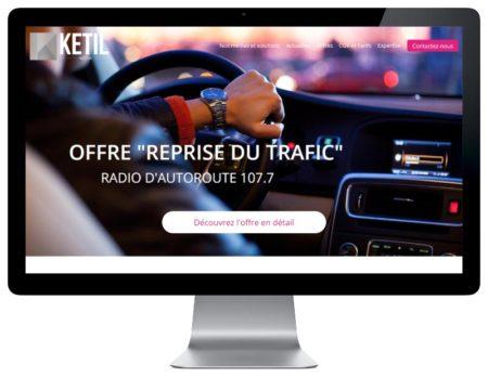 REZO 21 agence de création de sites Internet sur mesure développe avec WordPress le nouveau site web de la régie publicitaire Ketil Media