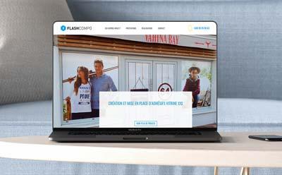 REZO 21 agence web de création de site Internet développe le nouveau site de Flashcompo Bayonne avec WordPress
