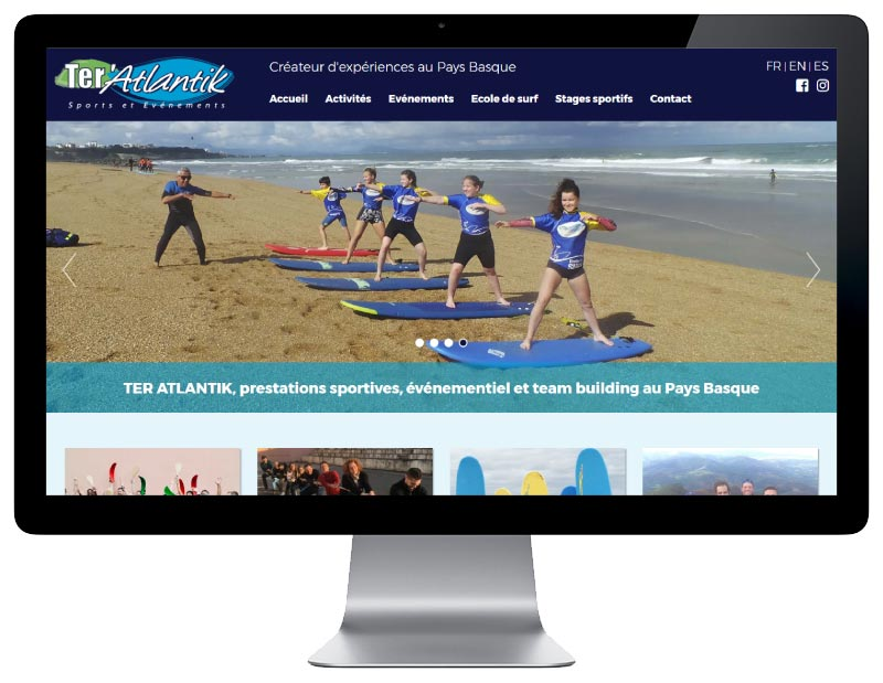 Site internet Ter'atlantik sur grand écran