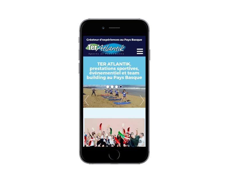 Site internet Ter'atlantik sur mobile