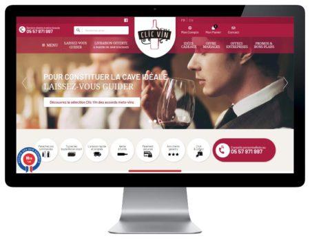 WooCommerce de vins pour Clic Vin, responsive desktop