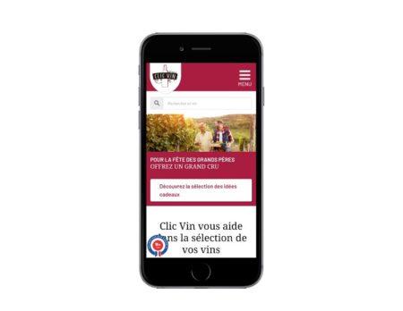 WooCommerce de vins pour Clic Vin, responsive mobile