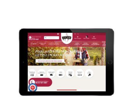 WooCommerce de vins pour Clic Vin, responsive tablette