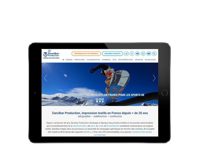 REZO 21 développement wordpress responsive tablette