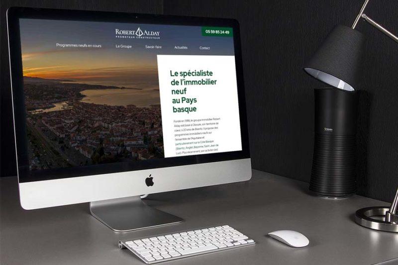 Développement d'un nouveau thème WordPress sur mesure pour Alday Immobilier