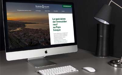 site wordpress promoteur immobilier pays basque