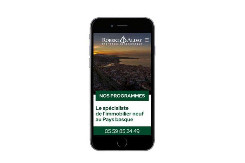 site wordpress promoteur immobilier pays basque