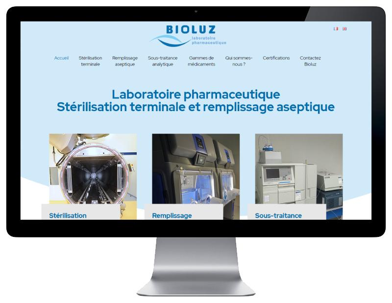 REZO 21 création du nouveau site WorPress de Bioluz responsive wordpress