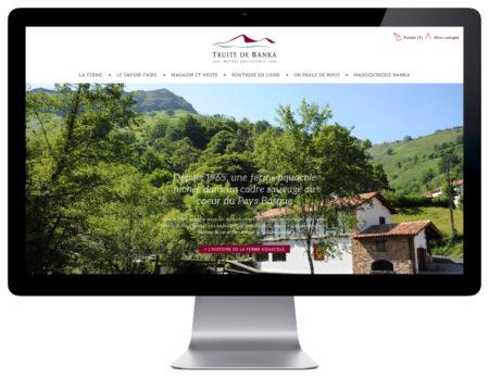 REZO 21 développe la boutique woocommerce de la truite de banka responsive