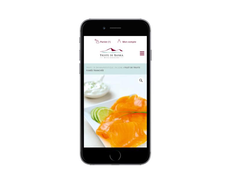 REZO 21 développe la boutique woocommerce de la truite de banka responsive mobile