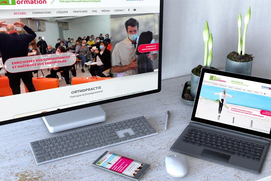 Fisio+ formation lance son site Internet WordPress