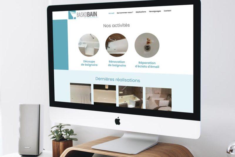 Création du logo et du nouveau site web Baskobain avec WordPress