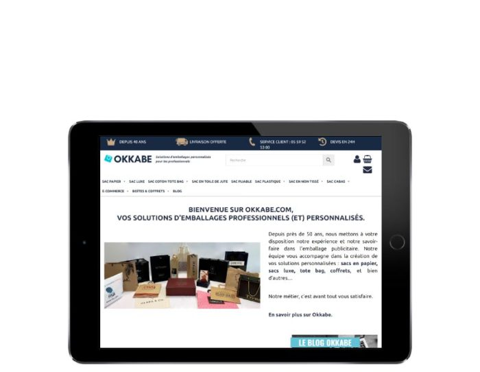 Woocommerce Okkabe responsive tablette