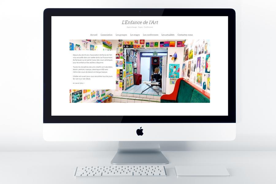 Un nouveau site Internet WordPress pour l'Enfance de l'Art à Bayonne
