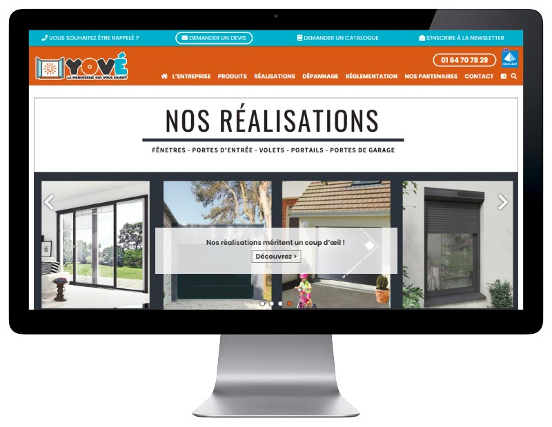 REZO 21 développe avec WordPress le site YOVE responsive