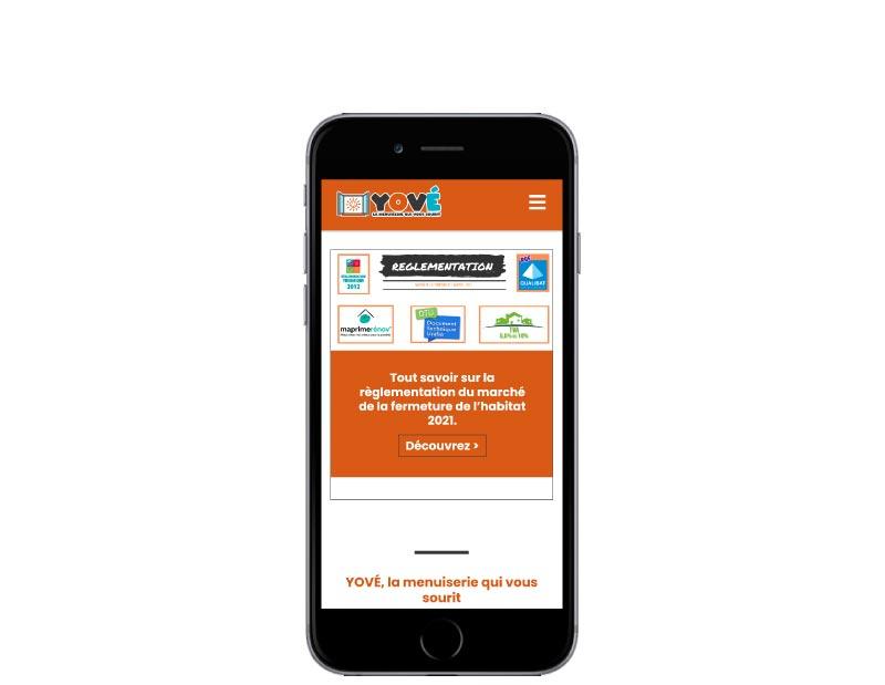 REZO 21 développe avec WordPress le site YOVE mobile